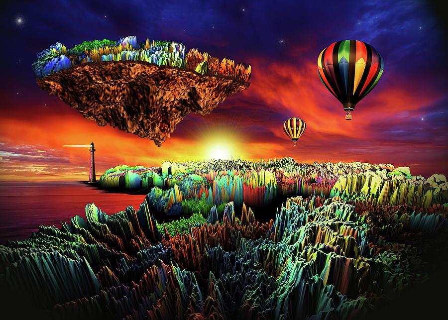 Adventure To The Floating Isle Digital Art