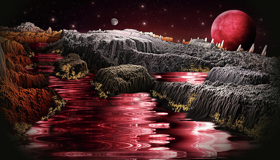 Adventure To The Red Planet Digital Art
