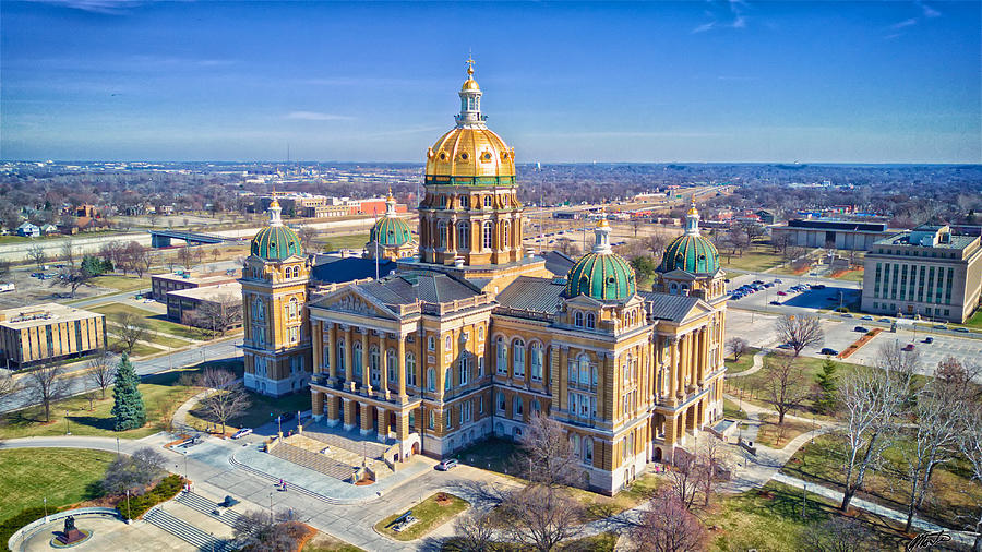 Aerial Of Iowa Capital March 4 2017 Photograph by Monte Goodyk