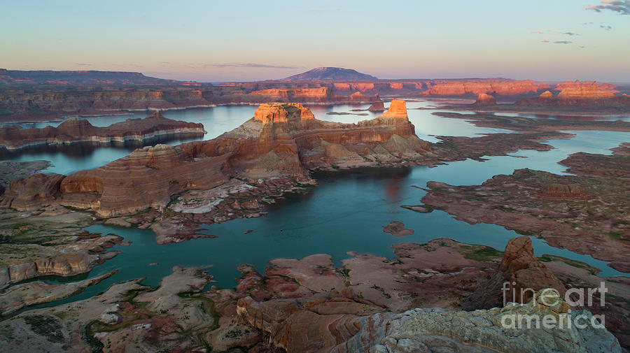 Aerial View of Alstrom Point, Page Arizona by Keith Kapple
