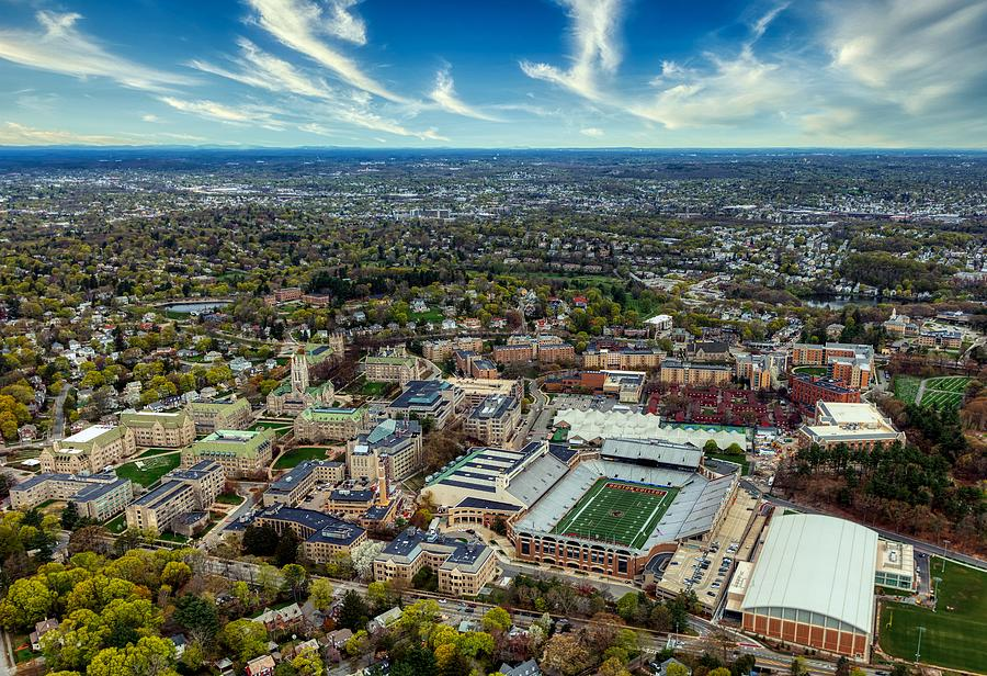 Boston College Photograph - Aerial View Of Boston College Campus by Mountain Dreams
