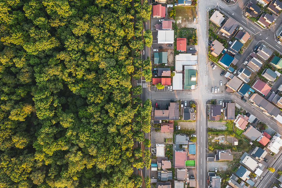 Aerial view of road intersection Photograph by Liyao Xie