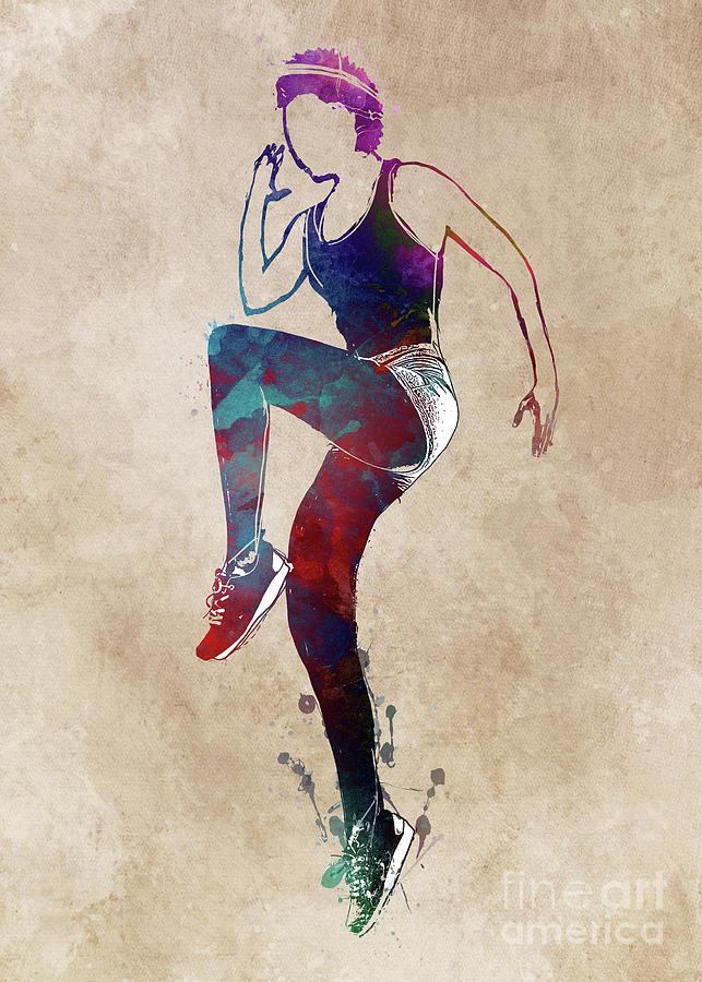 Aerobics Gymnastics Sport #gymnastics #aerobics Digital Art