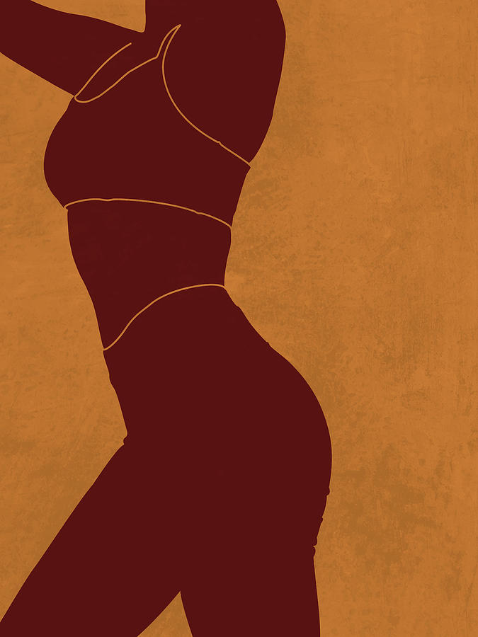Aesthetique - Female Figure - Minimal Contemporary Abstract 03 Mixed Media