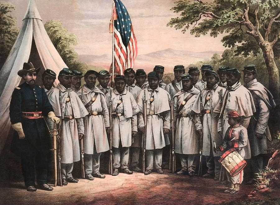 African American Soldiers - Civil War - 1864 by War Is Hell Store