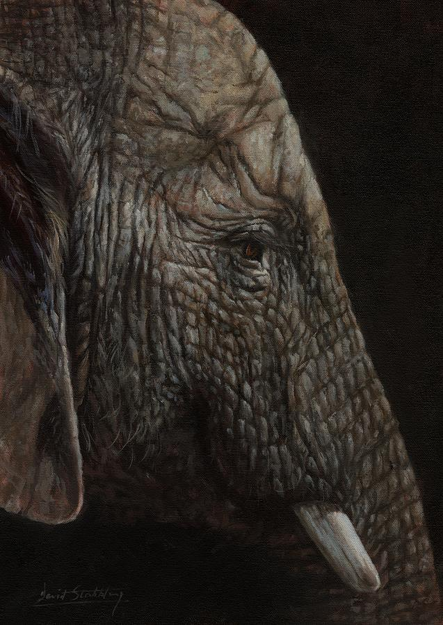 African Elephant Profile Painting