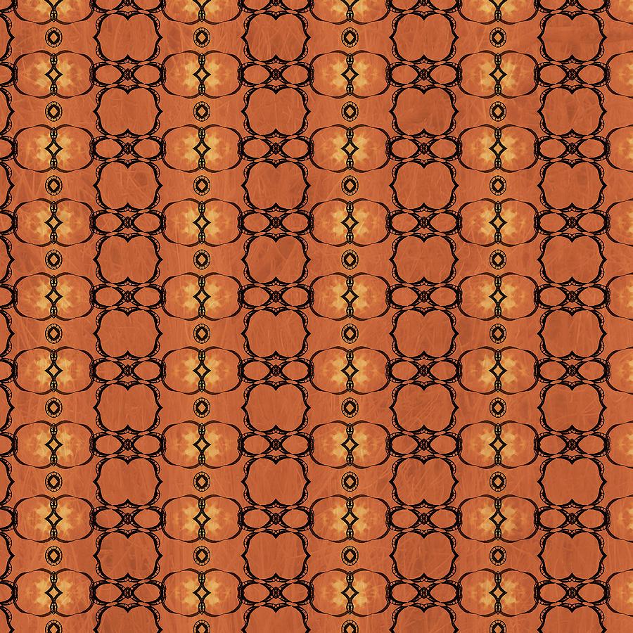 African Horn Stripe Batik Digital Art