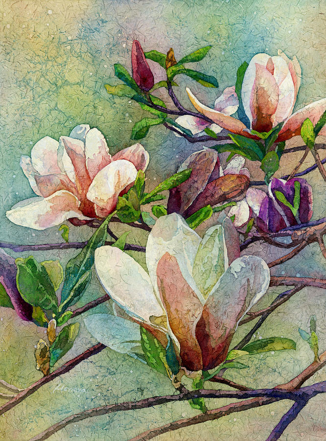 Magnolia Painting - After a Fresh Rain by Hailey E Herrera