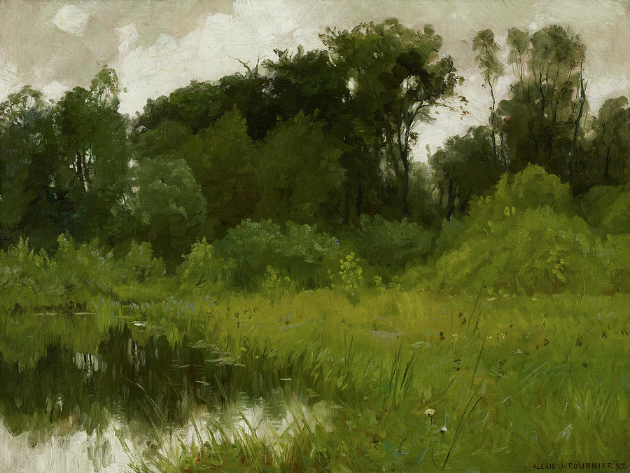 Fournier Painting - After Rain, On Minnehaha Creek, 1897 by Alexis Jean Fournier
