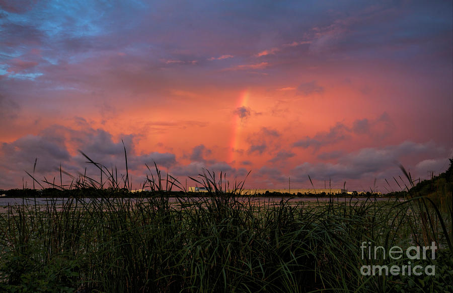 After Rain Photograph - After Rain, Sunset Over The Lake by Felix Lai