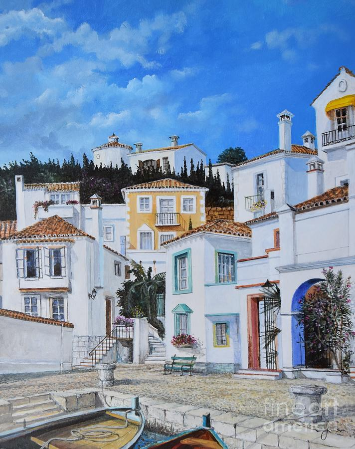 City Painting - Afternoon Light In Montenegro by Sinisa Saratlic
