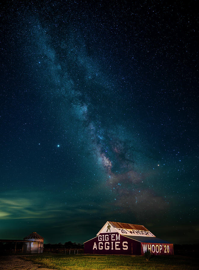 Aggie Barn Under The Stars Photograph