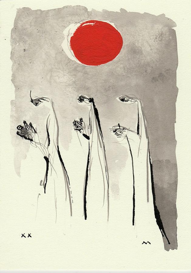 Spiritual Drawing - Aimless by Mark M Mellon