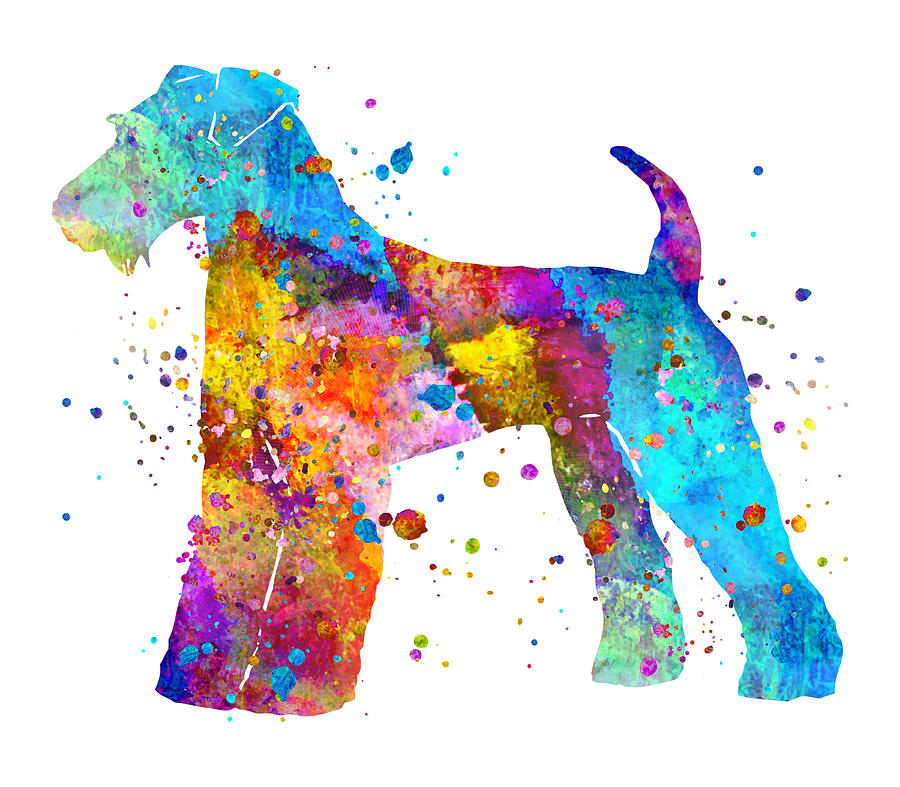 Airedale Painting - Airedale Terrier Art by Zuzi s