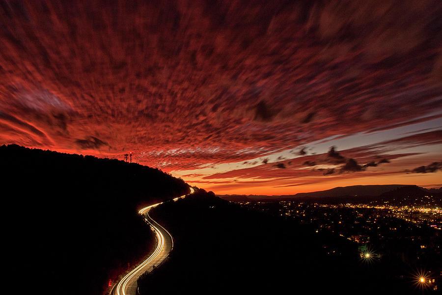 Airport Sunset Photograph