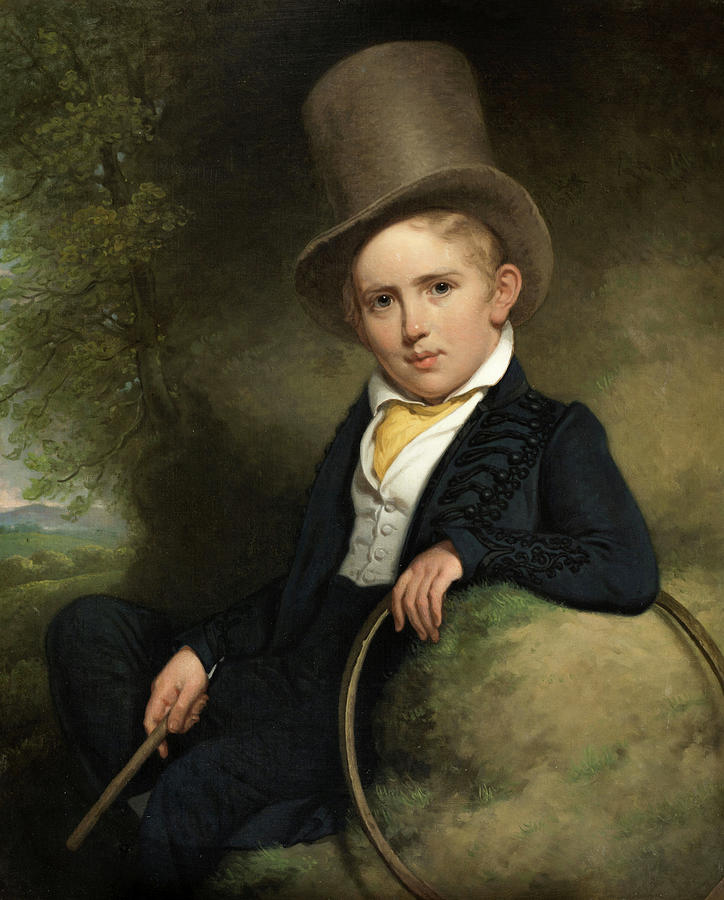 Portrait Of A Boy Painting - A.j.b. Wattendorff At The Age Of Five, 1832 by Charles Howard Hodges