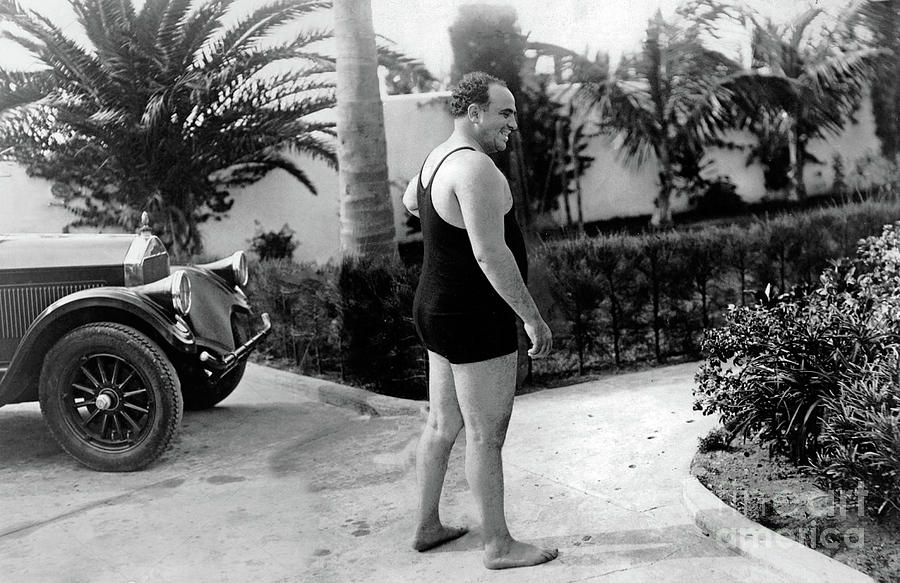 Al Capone at his home in Palm Island -1929 by Doc Braham