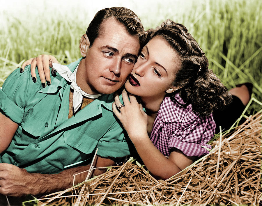 Alan Ladd And Dorothy Lamour Photograph