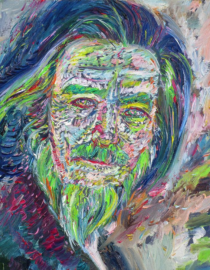 ALAN WATTS oil portrait by Fabrizio Cassetta