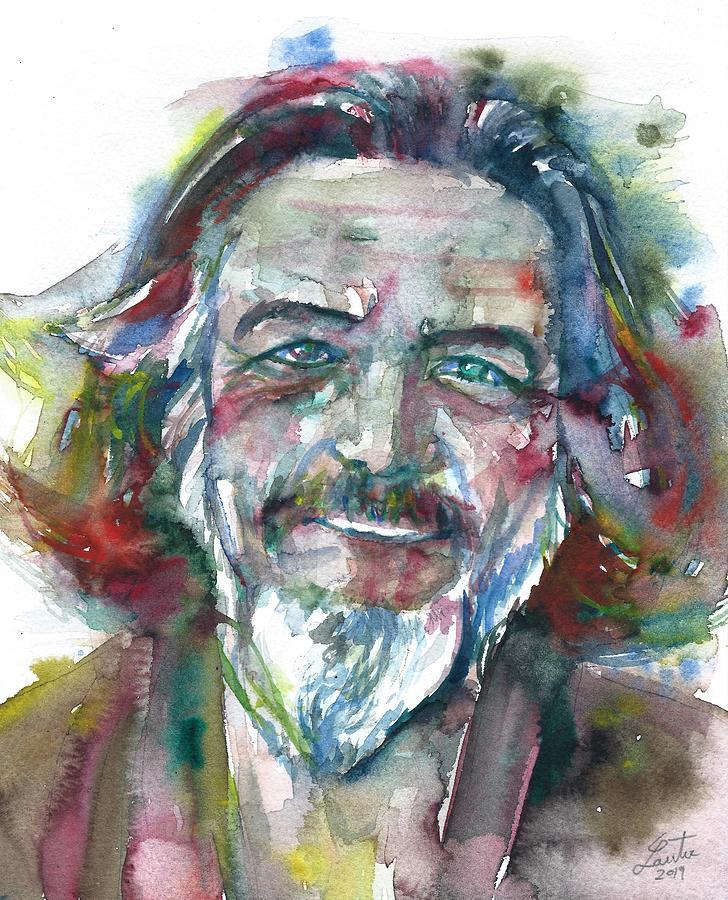 ALAN WATTS watercolor portrait.12 by Fabrizio Cassetta