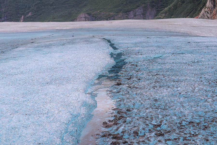 Alaska Glacial Streaming Photograph