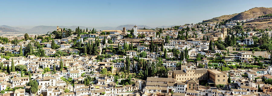 Albaicin from Alhambra 01 by Weston Westmoreland