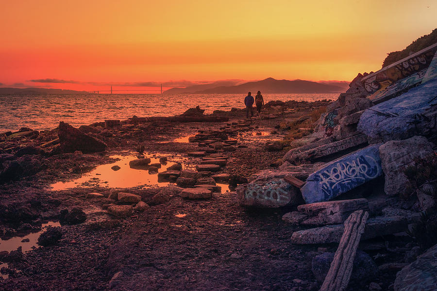 Albany Bulb at Sunset by Laura Macky