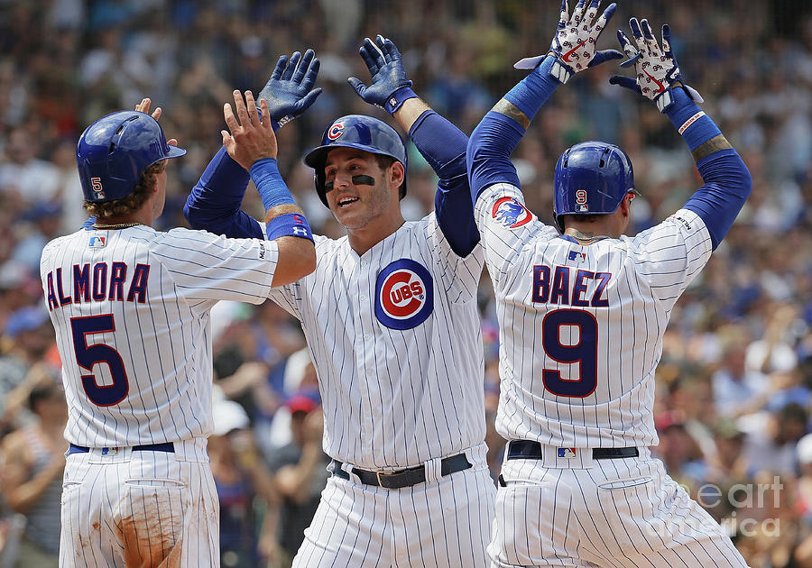 Albert Almora, Anthony Rizzo, And Javier Baez Photograph by Jonathan Daniel
