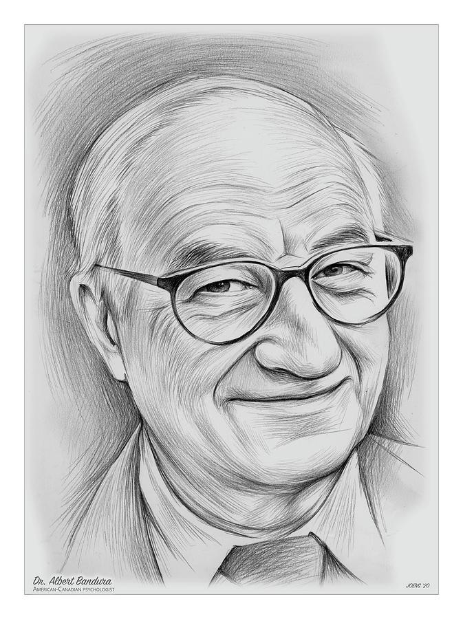 Albert Bandura Drawing - Albert Bandura - Pencil by Greg Joens