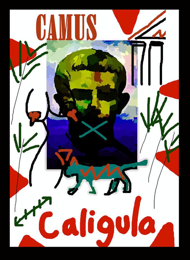 albert camus caligula poster by Paul Sutcliffe
