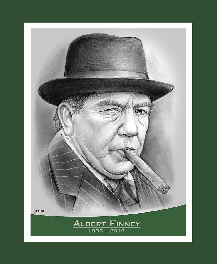 Albert Finney Drawing - Albert Finney - pencil by Greg Joens