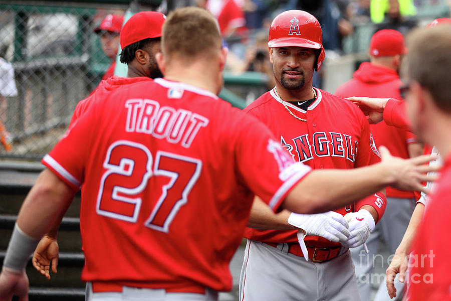 Albert Pujols And Mike Trout Photograph by Gregory Shamus
