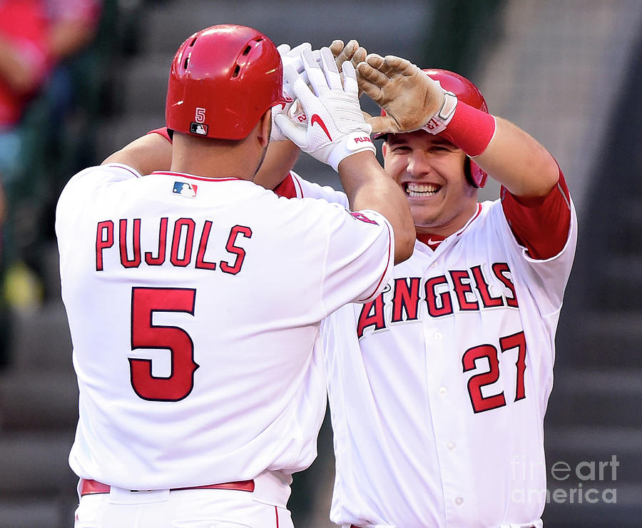 Albert Pujols and Mike Trout Photograph by Harry How