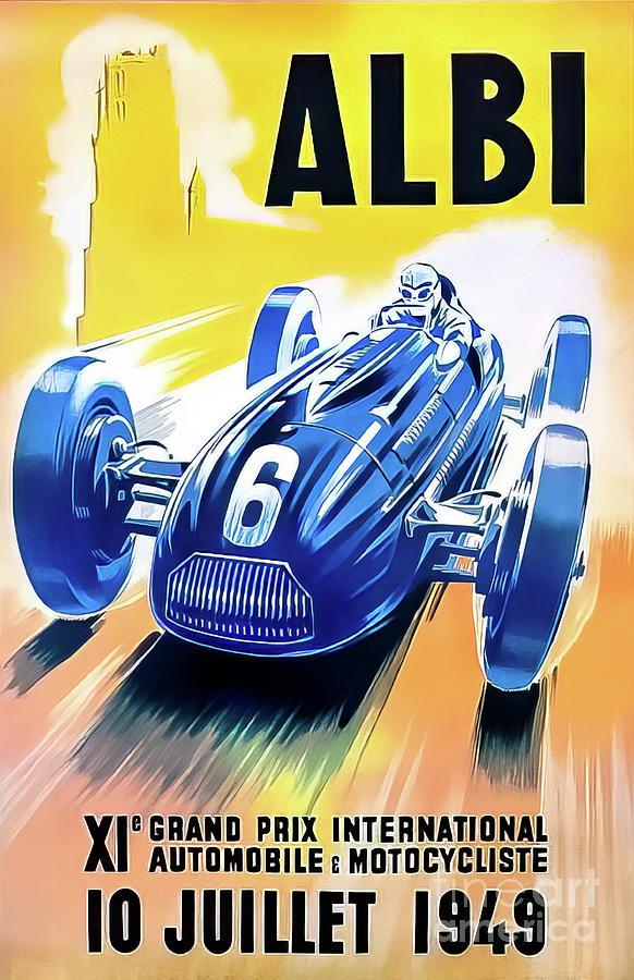 Albi 1949 Grand Prix Drawing