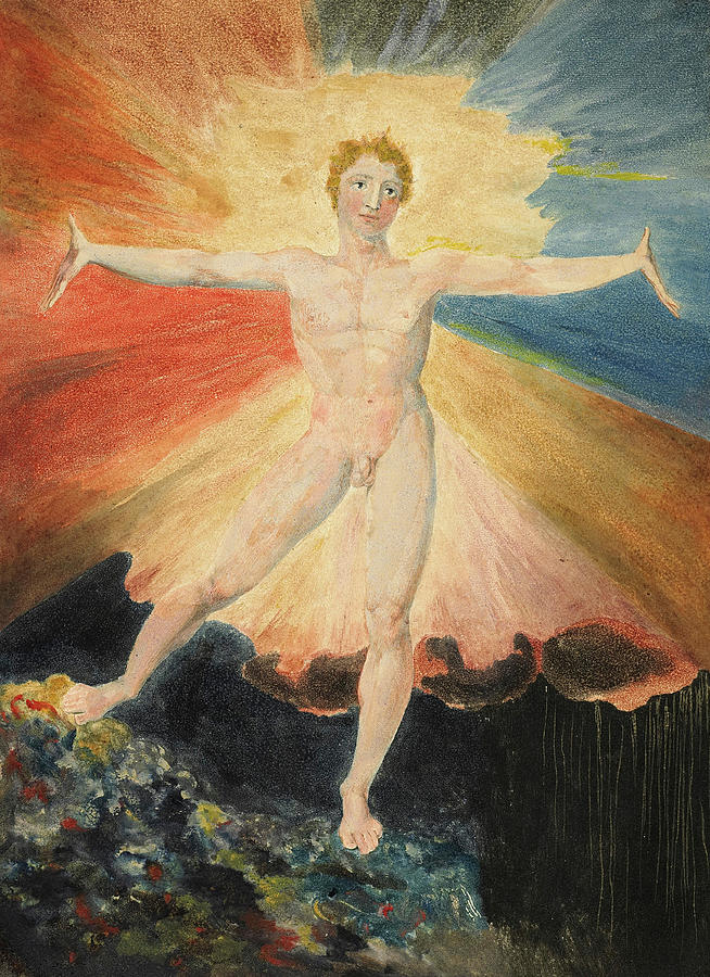 William Blake Painting - Albion Rose, 1796 by William Blake