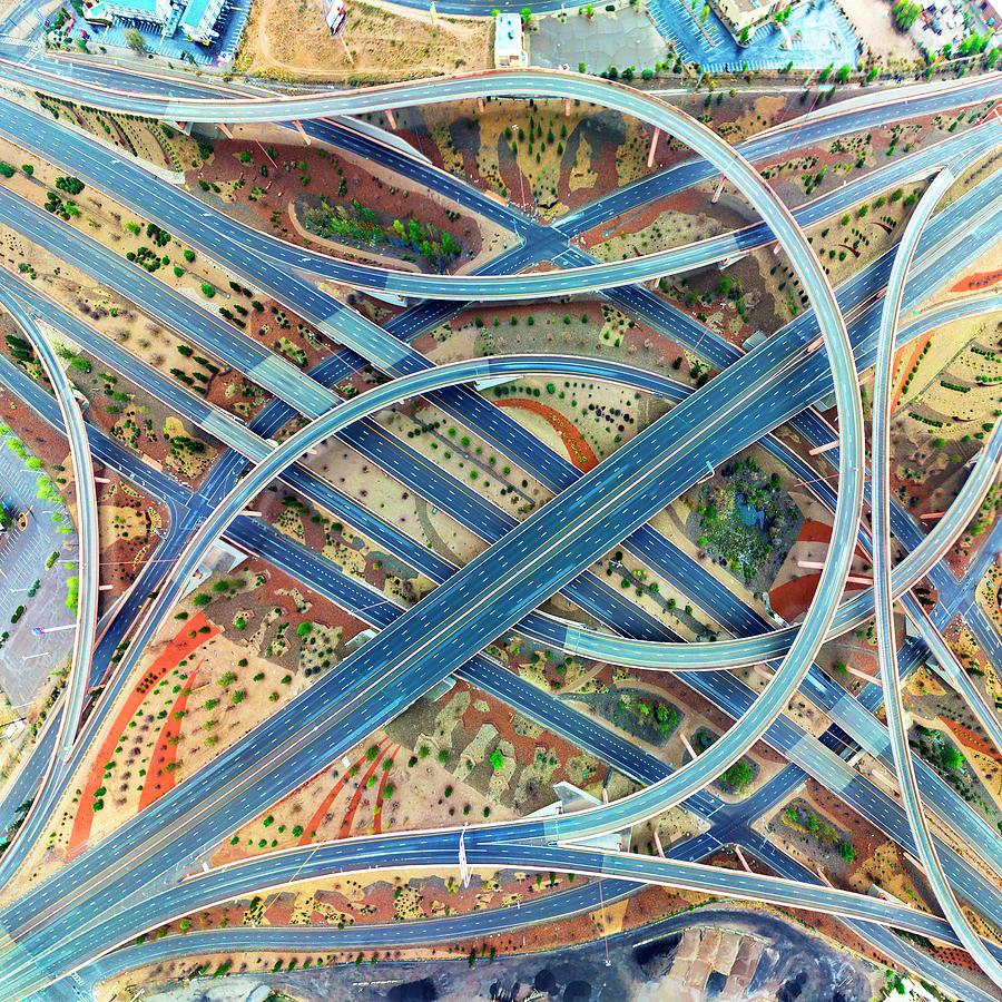 City Digital Art - Albuquerque 4.13.20 by Aerial Santa Fe