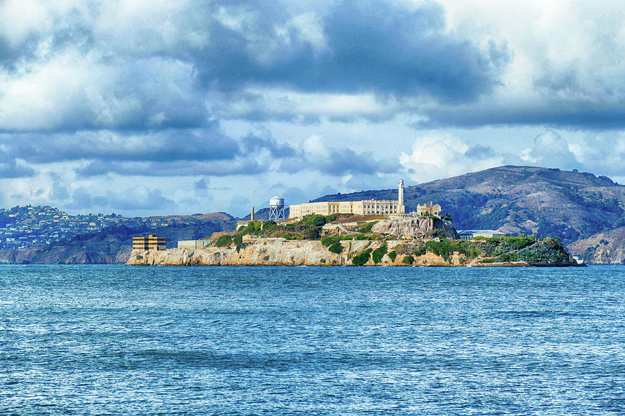Alcatraz island in San Francisco Bay by Steve Estvanik