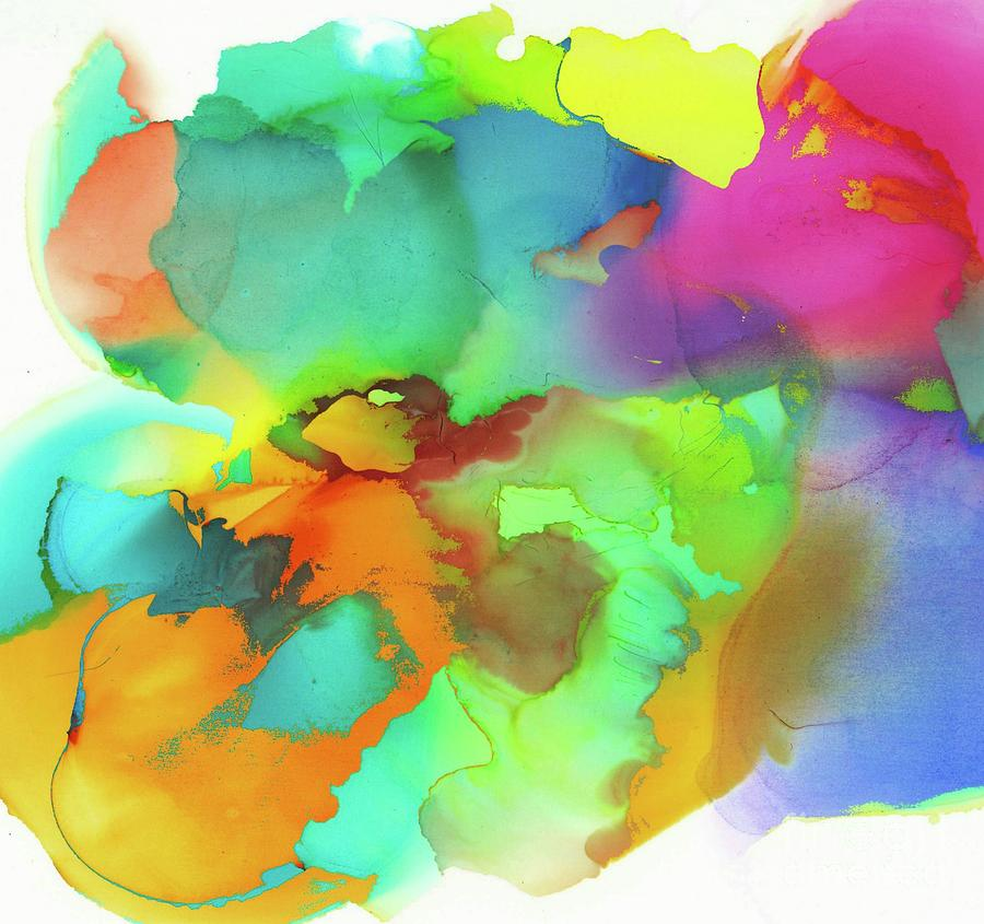 Alcohol Ink Modern Color Fields Mixed Media