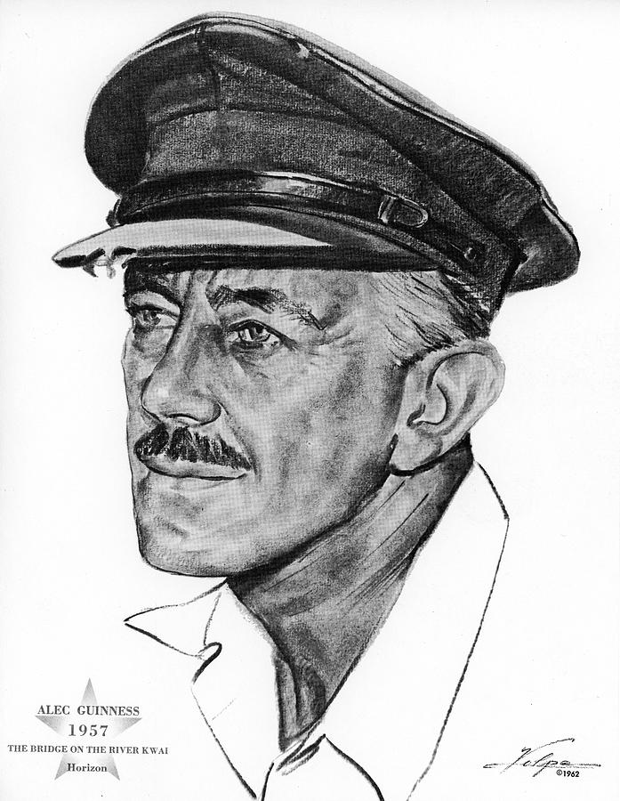 Alec Guinness 1957 Drawing