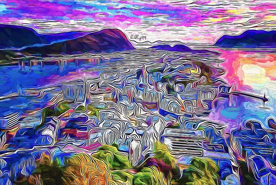 Alesund Norwey Painting