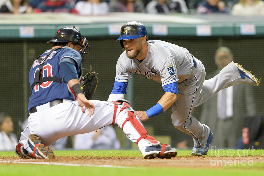 Alex Gordon and Yan Gomes Photograph by Jason Miller