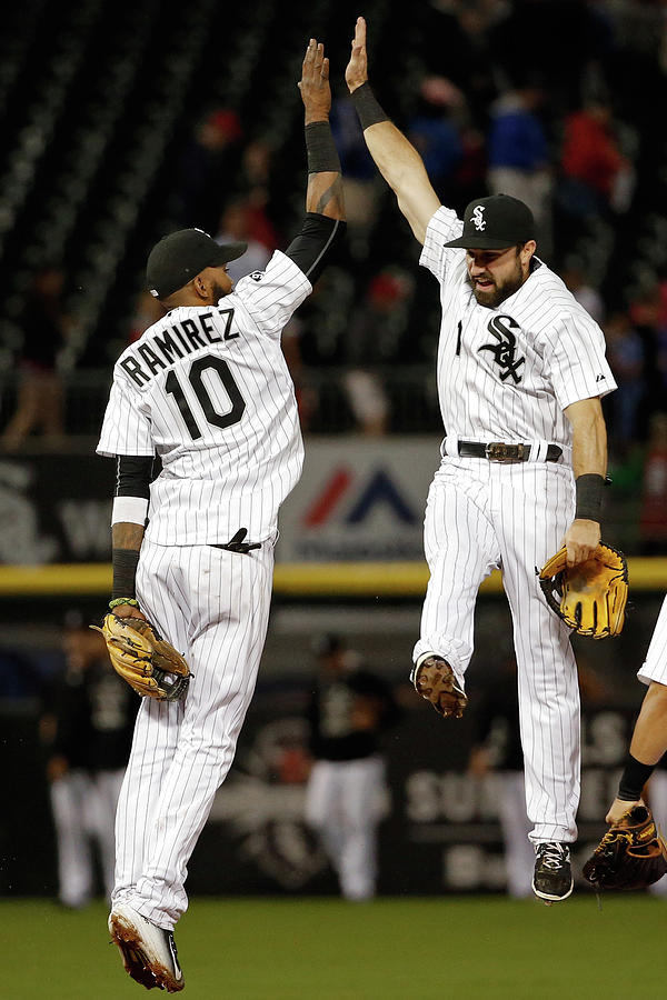 Alexei Ramirez and Adam Eaton Photograph by Jon Durr