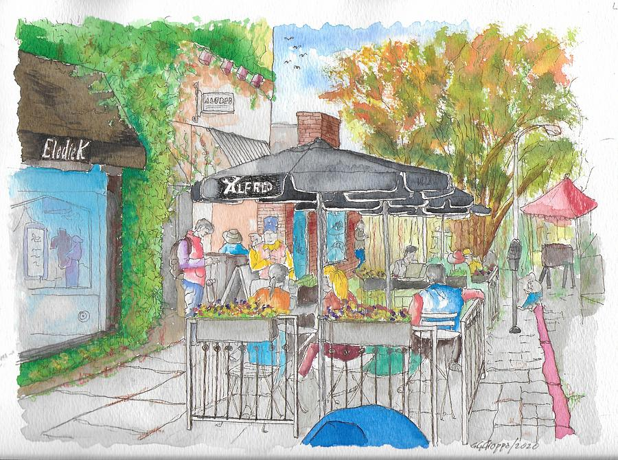 Alfred Coffee, Melrose Place, Los Angeles, California Painting