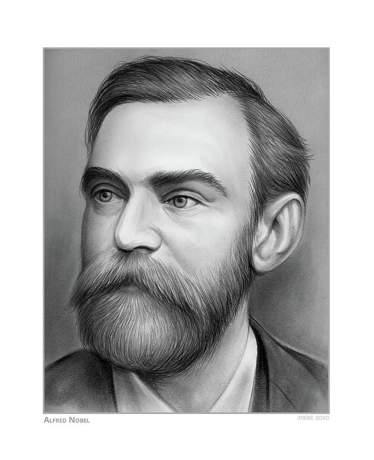 Alfred Nobel - Pencil Drawing