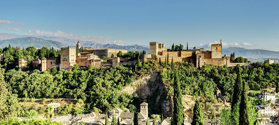 Alhambra from Albaicin 01 by Weston Westmoreland