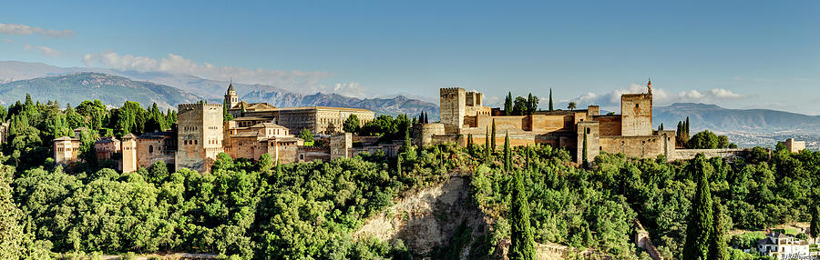 Alhambra from Albaicin 02 by Weston Westmoreland