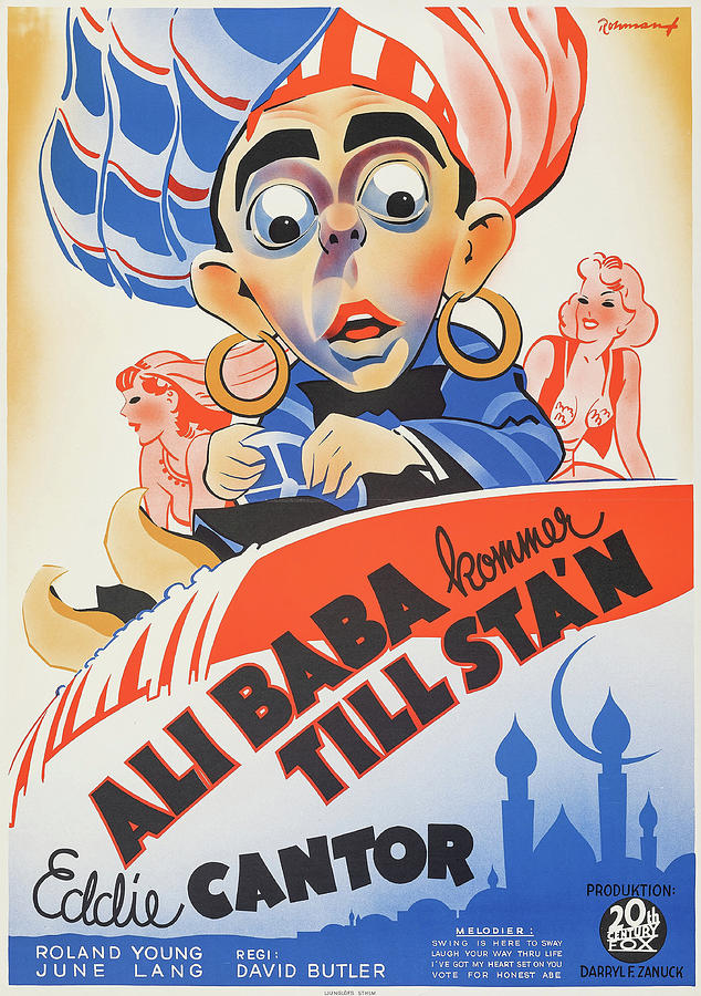 ali Baba Goes To Town Poster 1937 Mixed Media