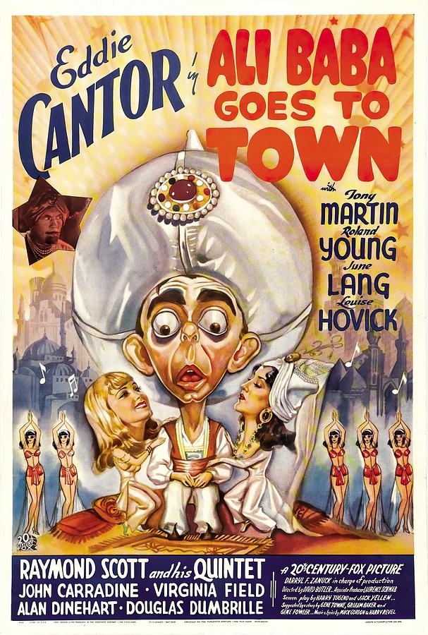 ali Baba Goes To Town, With Eddie Cantor, 1937 Mixed Media