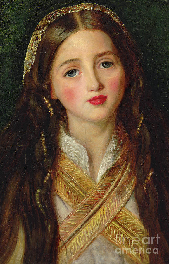 Millais Painting - Alice Gray by John Everett Millais