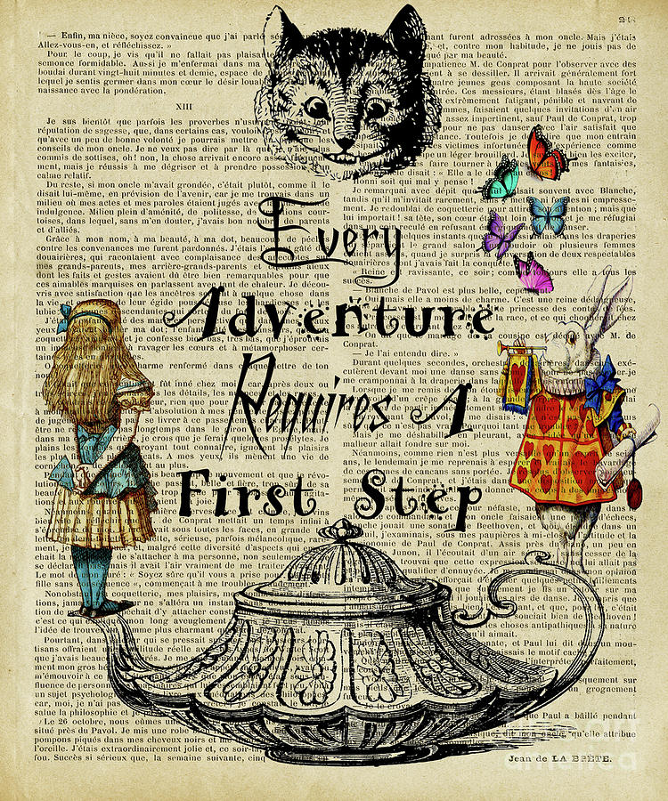 Alice In Wonderland Quote Every Adventure Digital Art By Trindira A